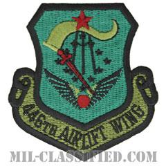 第446空輸航空団(446th Airlift Wing)[サブデュード/カットエッジ/パッチ]の画像