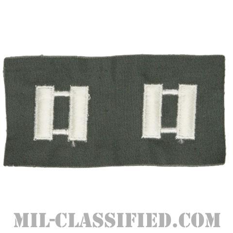 大尉(Captain (CPT))[カラー/空軍セージグリーン生地/階級章/ペア(2枚1組)]の画像