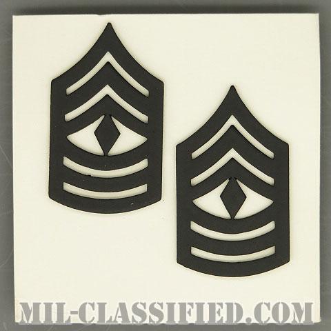 先任曹長(First Sergeant (1SG))[サブデュード(ブラックメタル)/階級章(1960)/バッジ/ペア(2個1組)]の画像