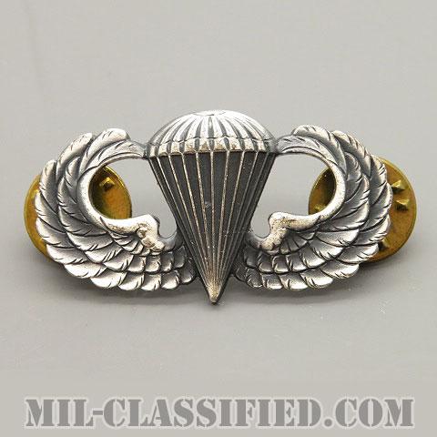 空挺章 (ベーシック)(Parachutist Badge, Basic)[カラー/1960s/燻し銀(銀張り・Silver Filled)/バッジ]の画像
