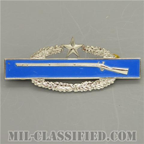 戦闘歩兵章 (セカンド)(Combat Infantryman Badge (CIB), Second Award)[カラー/1960s/鏡面仕上げ/バッジ/中古1点物]の画像