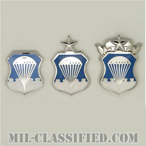 空軍空挺章(Air Force Parachutist Badge)[カラー/1956-1963/鏡面仕上げ/バッジ/3個セット/1点物]の画像