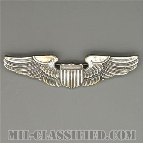 航空機操縦士章 (パイロット)(Air Force Pilot Badge)[カラー/燻し銀/バッジ(ピンバック)/中古1点物]の画像