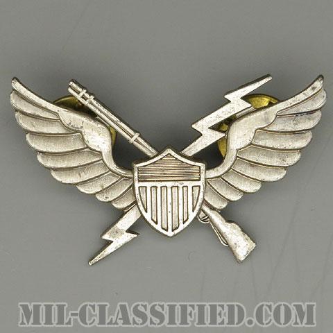 空中突撃章 (エアアサルト)(Air Assault Badge)[カラー/燻し銀/1964-1965/バッジ/中古1点物]の画像
