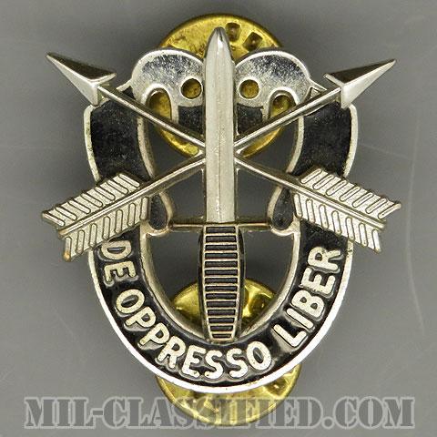 特殊部隊群(Special Forces Group)[カラー/クレスト(Crest・DUI・DI)バッジ/Kissing Dueling Skulls/1960s/中古1点物]の画像