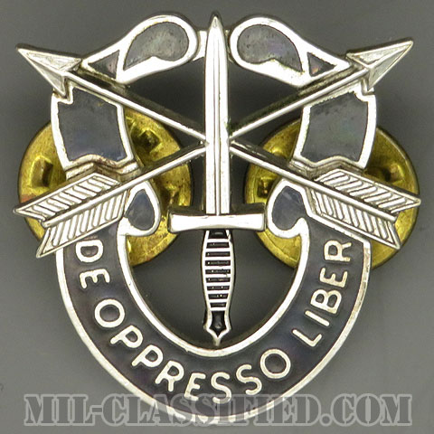 特殊部隊群(Special Forces Group)[カラー/クレスト(Crest・DUI・DI)バッジ/1960s/中古1点物]の画像