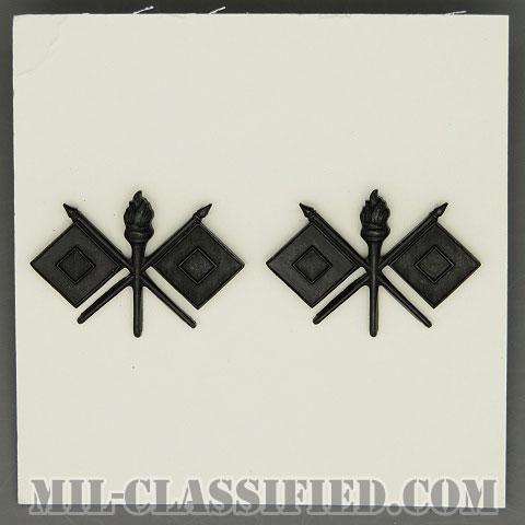 通信科章(Signal Corps)[サブデュード/兵科章/1970年ロット/バッジ/ペア(2個1組)]の画像