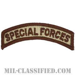 スペシャルフォースタブ(Special Forces Tab)[デザート(ブラウンエッジ)/メロウエッジ/パッチ]の画像