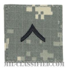 一等兵(Private Second Class (PV2))[UCP(ACU)/階級章/ベルクロ付パッチ]の画像