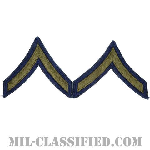 一等兵(Private First Class (PFC))[カットエッジ/階級章(1951-1959)/パッチ/ペア(2枚1組)/中古1点物]の画像