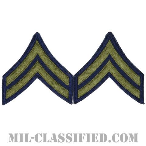 伍長(Corporal (CPL))[カットエッジ/階級章(1951-1959)/パッチ/ペア(2枚1組)/中古1点物]の画像