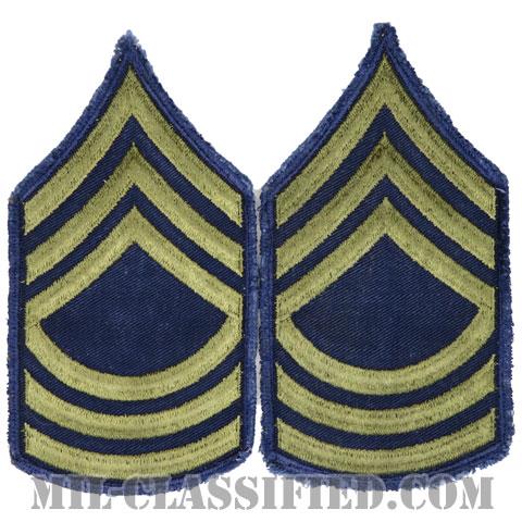 曹長(Master Sergeant (MSG))[カットエッジ/階級章(1951-1959)/パッチ/ペア(2枚1組)/中古1点物]の画像