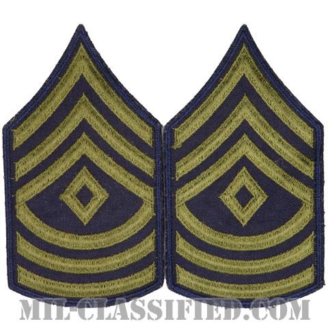 先任曹長(First Sergeant (1SG))[カットエッジ/階級章(1951-1959)/パッチ/ペア(2枚1組)/中古1点物]の画像