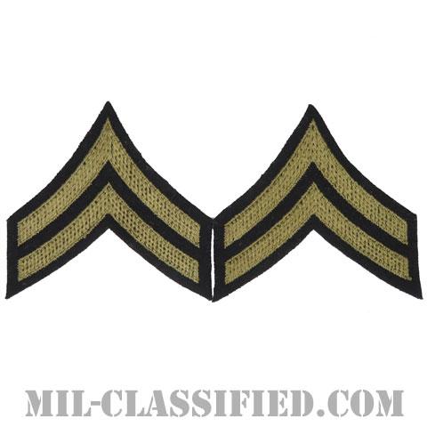 伍長(Corporal (CPL))[ウール・フェルト生地刺繍タイプ/階級章(1920-1942)/パッチ/ペア(2枚1組)/中古1点物]の画像