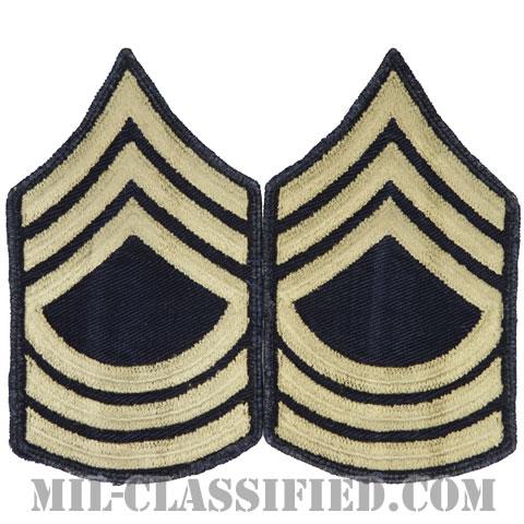 曹長(Master Sergeant (MSG))[ツイル生地刺繍タイプ/階級章(1942-1948)/パッチ/ペア(2枚1組)/中古1点物]の画像