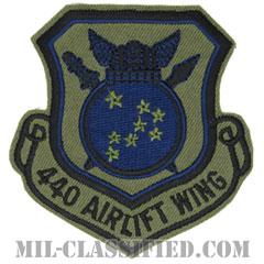第440空輸航空団(440th Airlift Wing)[サブデュード/カットエッジ/パッチ]の画像