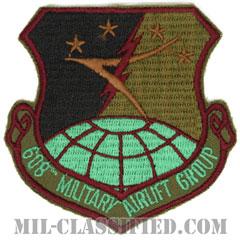 第608兵員空輸群(608th Military Airlift Group)[サブデュード/カットエッジ/パッチ]の画像