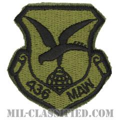 第436兵員空輸航空団(436th Military Airlift Wing)[サブデュード/カットエッジ/パッチ]の画像