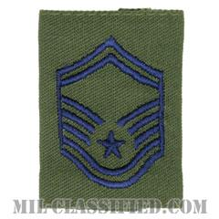 上級曹長(Senior Master Sergeant)[サブデュード(Subdued)/ゴアテックスパーカー用スライドオン空軍階級章]の画像