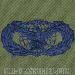 部隊防護章 (ベーシック)(Force Protection Badge, Basic)[サブデュード/ブルー刺繍/パッチ]の画像