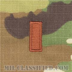 少尉(Second Lieutenant (2LT))[OCP/空軍階級章/キャップ・チェスト用/縫い付けパッチ]の画像