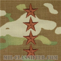 大将(General (GEN))[OCP/空軍階級章/チェスト用/縫い付けパッチ]の画像