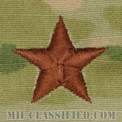 准将(Brigadier General (BG))[OCP/空軍階級章/キャップ用/縫い付けパッチ]の画像