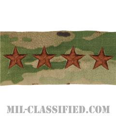 大将(General (GEN))[OCP/空軍階級章/キャップ用/縫い付けパッチ]の画像