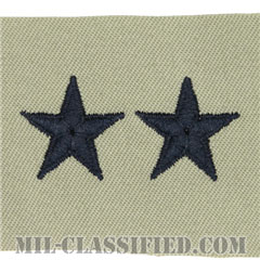 少将(Major General (MG))[ABU/空軍階級章/パッチ/ペア(2枚1組)]の画像