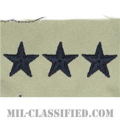 中将(Lieutenant General (LTG))[ABU/空軍階級章/パッチ/ペア(2枚1組)]の画像