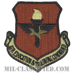 航空教育・訓練軍団(Air Education and Training Command)[OCP/カットエッジ/ベルクロ付パッチ]の画像