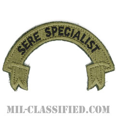 SERE (生存・回避・抵抗・脱走) スペシャリスト(SERE Specialist)[OCP/カットエッジ/ベルクロ付パッチ]の画像