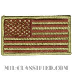 星条旗 OCP ブラウン刺繍(フォワード)(USA Flag (Forward))[ベルクロ付パッチ]の画像