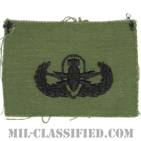 爆破物処理章 (シニア)(Explosive Ordnance Disposal (EOD), Badge, Senior)[サブデュード/1960s/コットン100%/パッチ]の画像
