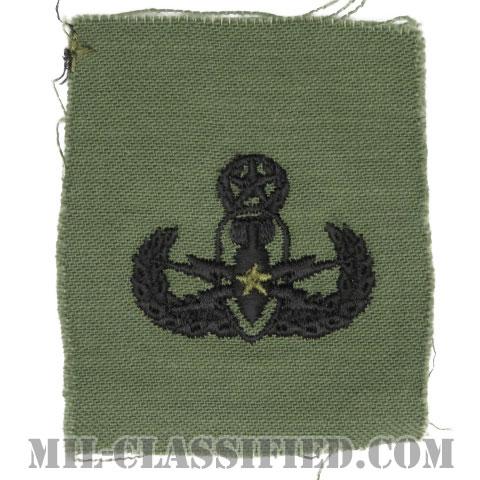 爆破物処理章 (マスター)(Explosive Ordnance Disposal (EOD), Badge, Master)[サブデュード/1960s/コットン100%/パッチ]の画像