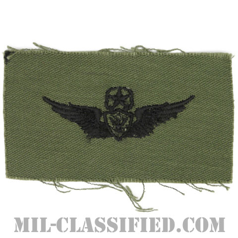 航空機搭乗員章 (マスター・エアクルー)(Army Aviation Badge (Aircrew), Master)[サブデュード/1960s/コットン100%/パッチ]の画像