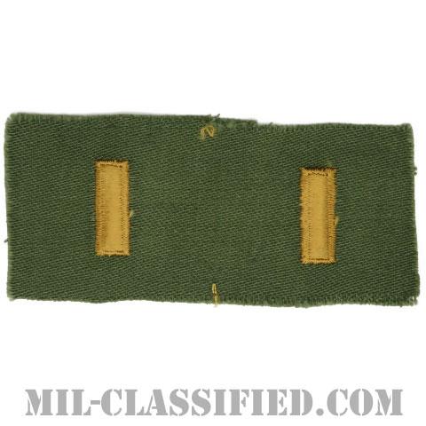 少尉(Second Lieutenant (2LT))[サブデュード/階級章/1960s/コットン100%/パッチ/ペア(2枚1組)]の画像