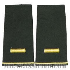 少尉(Second Lieutenant (2LT))[グリーン/ショルダー階級章/ロングサイズ肩章/ペア(2枚1組)]の画像