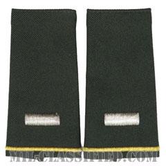 中尉(First Lieutenant (1LT))[グリーン/ショルダー階級章/ロングサイズ肩章/ペア(2枚1組)]の画像