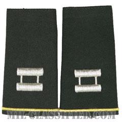 大尉(Captain (CPT))[グリーン/ショルダー階級章/ロングサイズ肩章/ペア(2枚1組)]の画像