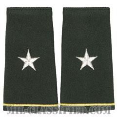 准将(Brigadier General (BG))[グリーン/ショルダー階級章/ロングサイズ肩章/ペア(2枚1組)]の画像