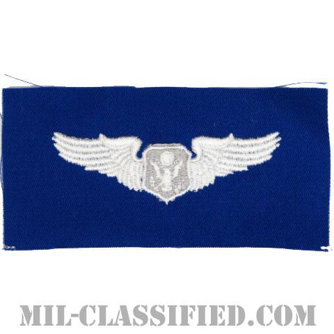 航空機搭乗員章 (将校用エアクルー)(Air Force Officer Aircrew Badge)[カラー/空軍ブルー生地/パッチ]の画像