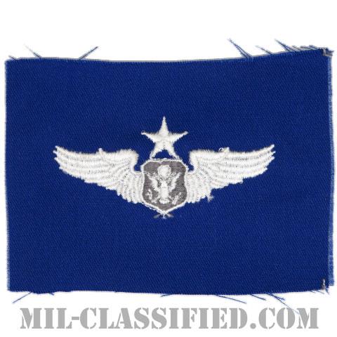 航空機搭乗員章 (将校用シニア・エアクルー)(Air Force Officer Senior Aircrew Badge)[カラー/空軍ブルー生地/パッチ]の画像