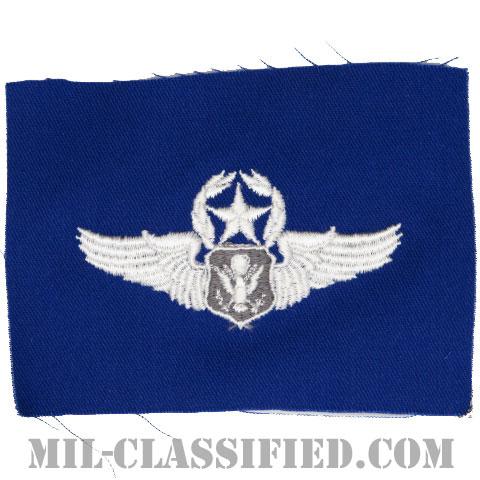 航空機搭乗員章 (将校用マスター・エアクルー)(Air Force Officer Master Aircrew Badge)[カラー/空軍ブルー生地/パッチ]の画像