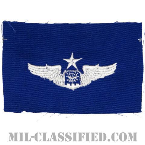航空士章 (ナビゲーター・シニア)(Navigator/Observer Badge, Senior)[カラー/空軍ブルー生地/パッチ]の画像