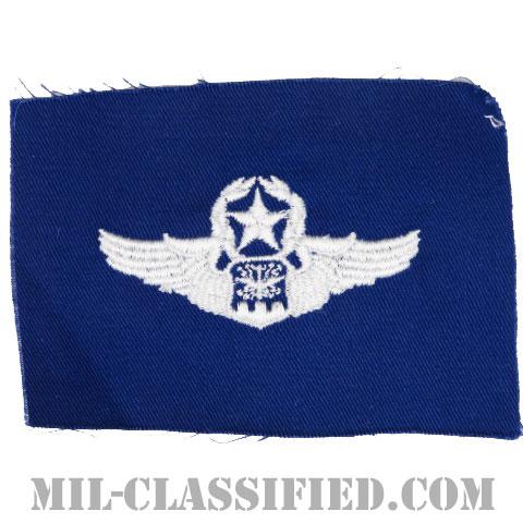 航空士章 (ナビゲーター・マスター)(Navigator/Observer Badge, Master)[カラー/空軍ブルー生地/パッチ]の画像