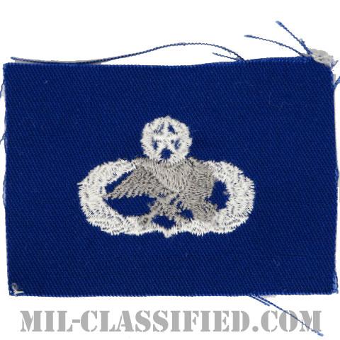 整備・弾薬章 (マスター)(Maintenance and Munitions Badge, Master)[カラー/空軍ブルー生地/パッチ]の画像