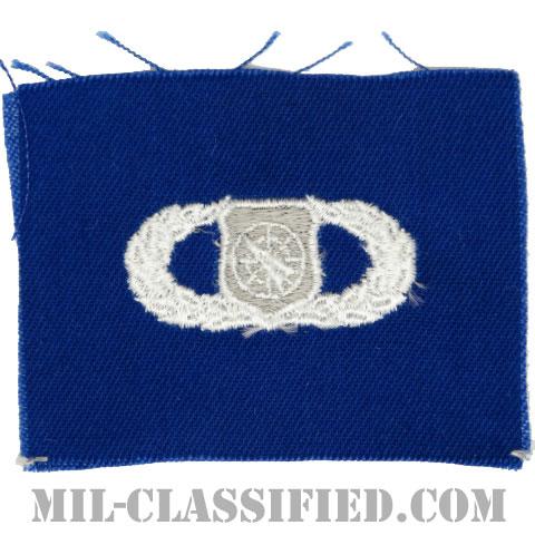 兵器指揮章 (ベーシック)(Weapons Director Badge, Basic)[カラー/空軍ブルー生地/パッチ]の画像