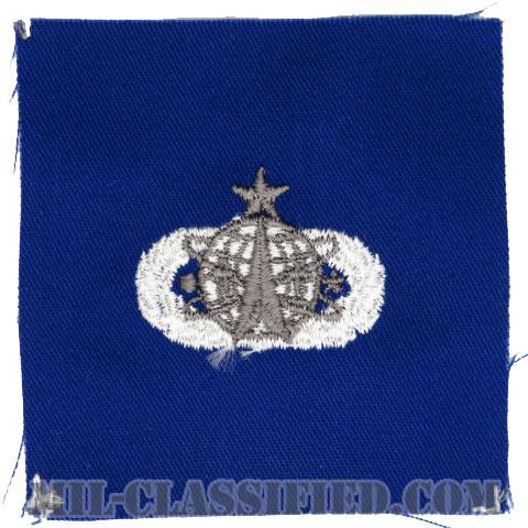 宇宙ミサイル章 (シニア)(Space and Missile Badge, Senior)[カラー/空軍ブルー生地/パッチ]の画像