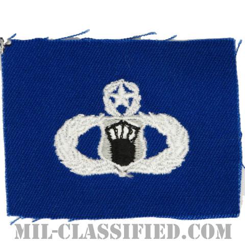 航空交通管制章 (マスター)(Air Traffic Control Badge, Master)[カラー/空軍ブルー生地/パッチ]の画像